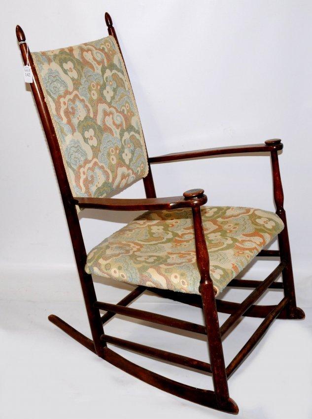 142: Mahogany Upholstered Rocking Chair 37