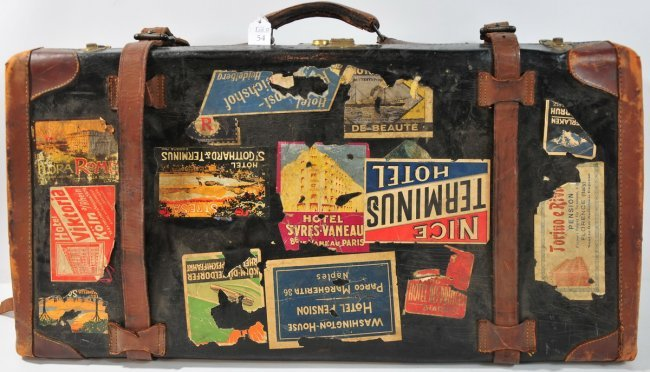 Vintage suitcase travel bags leather pinterest for What to do with vintage suitcases