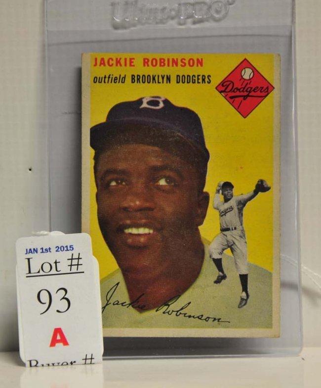 1954 Topps Jackie Robinson Card Lot 16