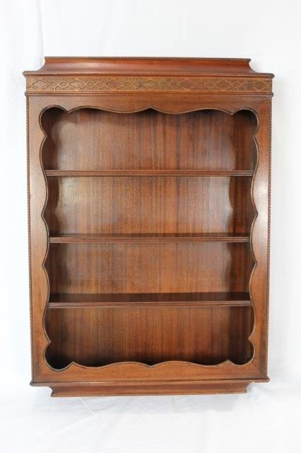 mahogany wall mounted curio cabinet lot 91. Black Bedroom Furniture Sets. Home Design Ideas