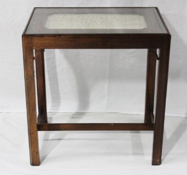 Chinese glass top occasional table lot 113 for Glass top occasional tables
