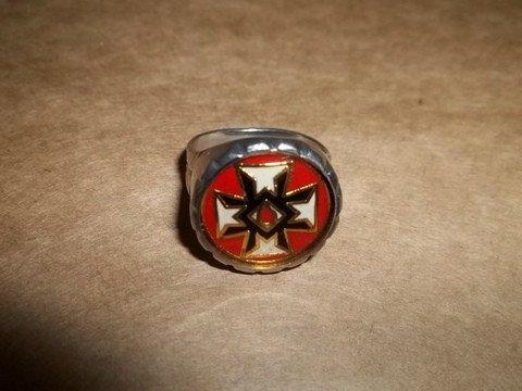 294 vintage silver ku klux klan ring lot 294