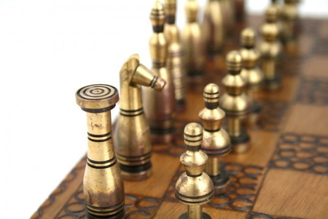 A CHESS SET BY HANS TEPPICH Israel, c 1960 Featuring