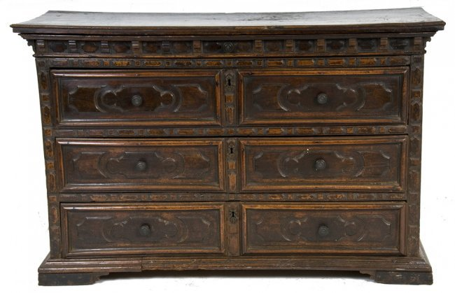 italian baroque style walnut commode lot 56. Black Bedroom Furniture Sets. Home Design Ideas