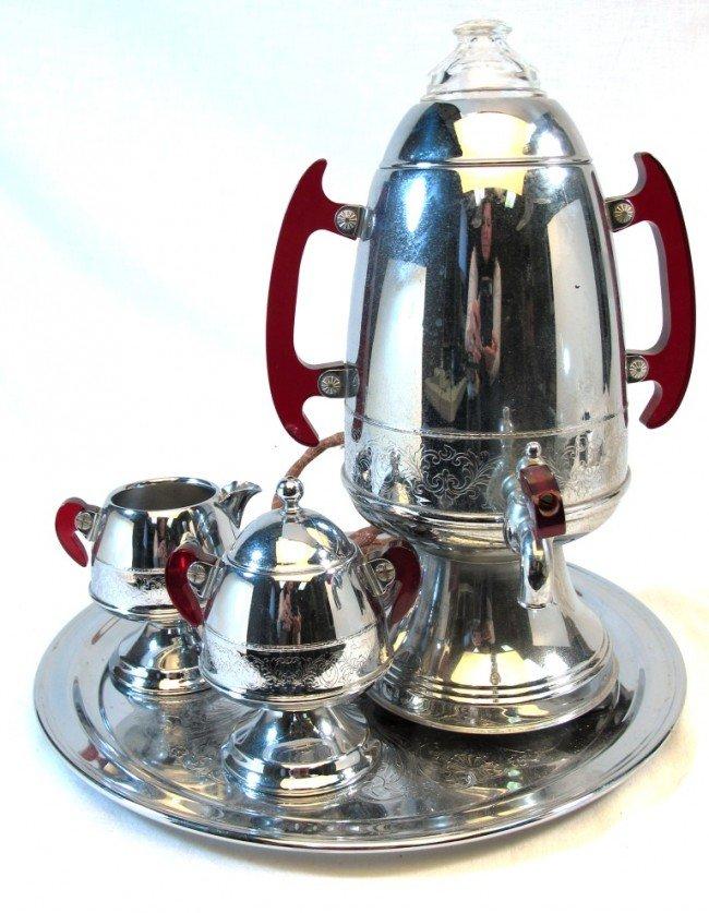 Best Coffee Maker Under Usd 80 : 271: United Art Deco Coffee Maker Percolator Set : Lot 271