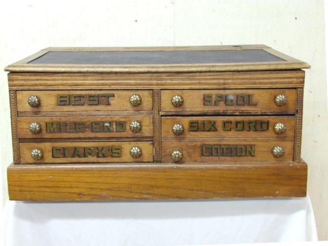 198 Clarks Mile End 6 Drawer Spool Cabinet Lot 198