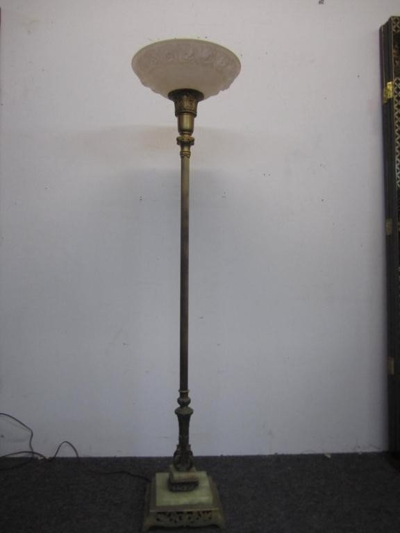 248 gilt metal art deco floor lamp lot 248. Black Bedroom Furniture Sets. Home Design Ideas
