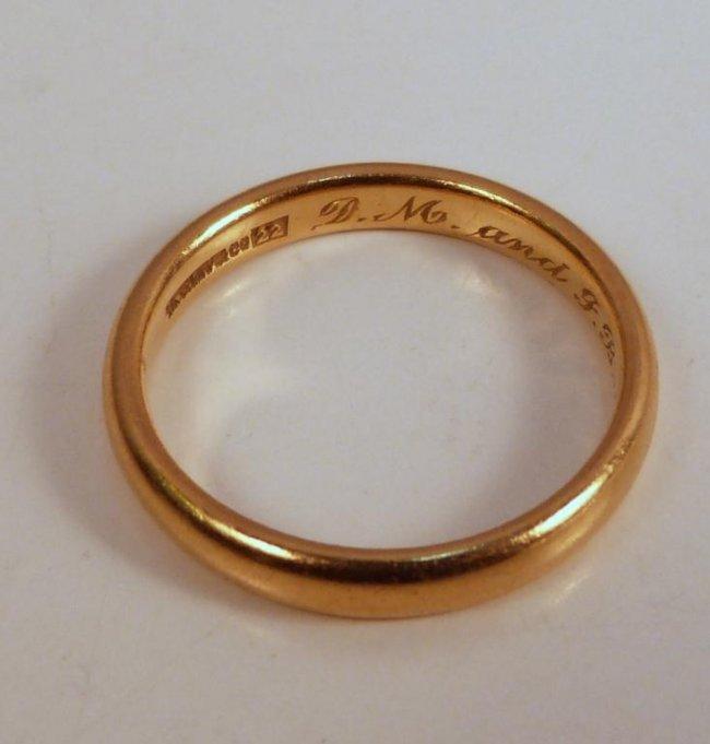 64 vintage tiffany 22k gold wedding band lot 64