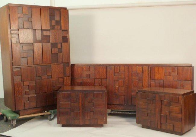 6 Piece Mid Century Bedroom Set By Lane Lot 126
