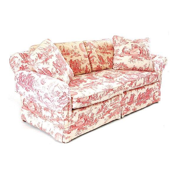 630 Toile De Jouy Upholstered Sofa Lot 630