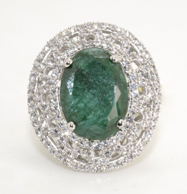 emerald sapphire ring appraised value 6 538 lot 76