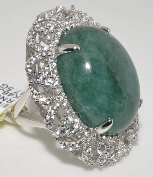 emerald sapphire ring appraised value 12 202 lot 186