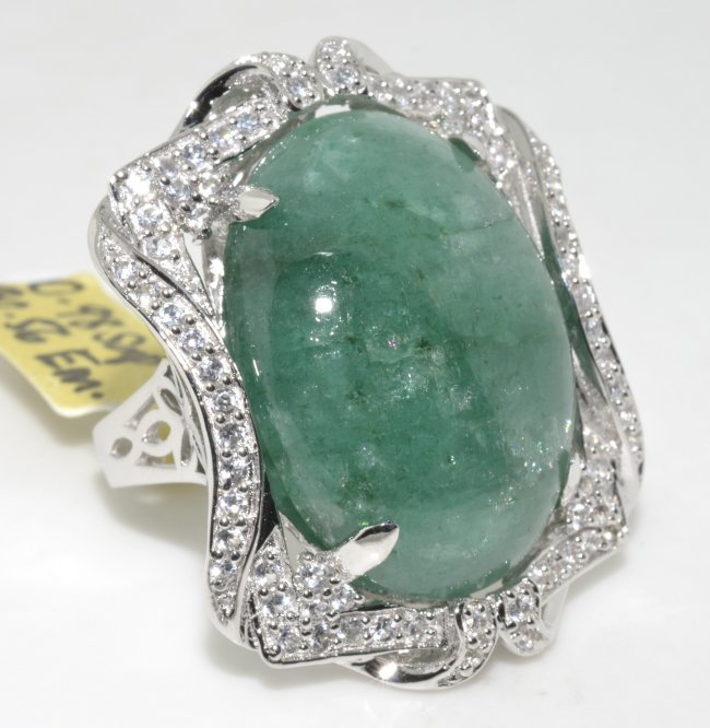 emerald sapphire ring appraised value 9 518 lot 202