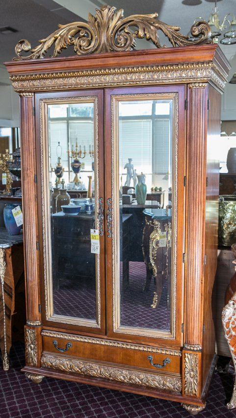 Baroque Style Armoire  Lot 169 -> Armoire Style Baroque
