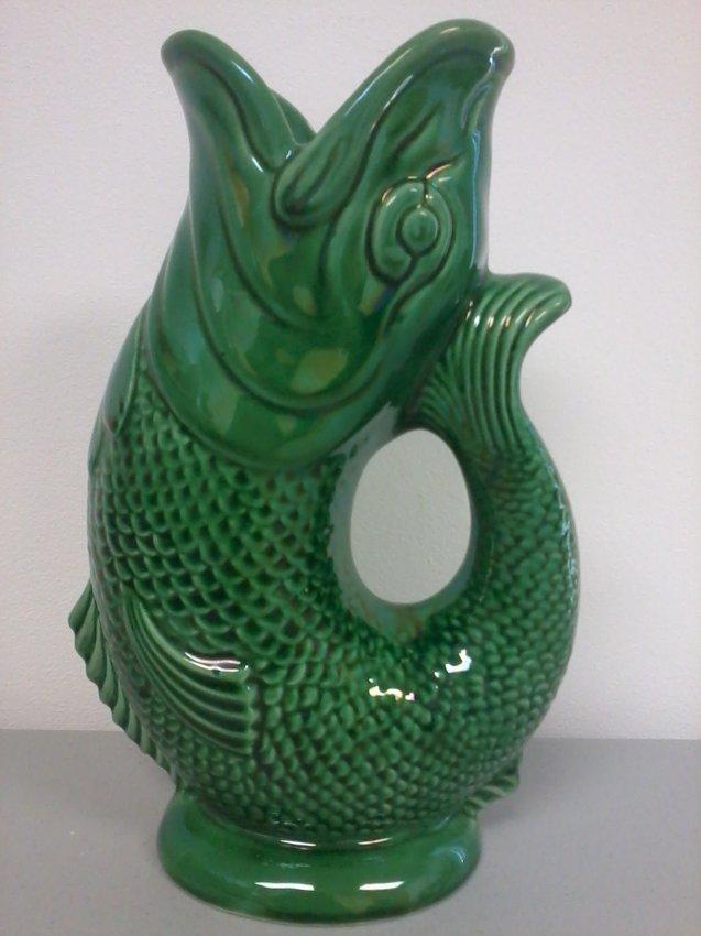 7004 dartmouth devon gurgling fish pitcher england lot 7004 - Fish pitcher gurgle ...