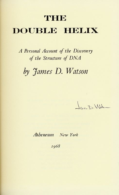 a review of james d watsons the double helix Double helix rare book for sale this first edition by james d watson is available at bauman rare books.