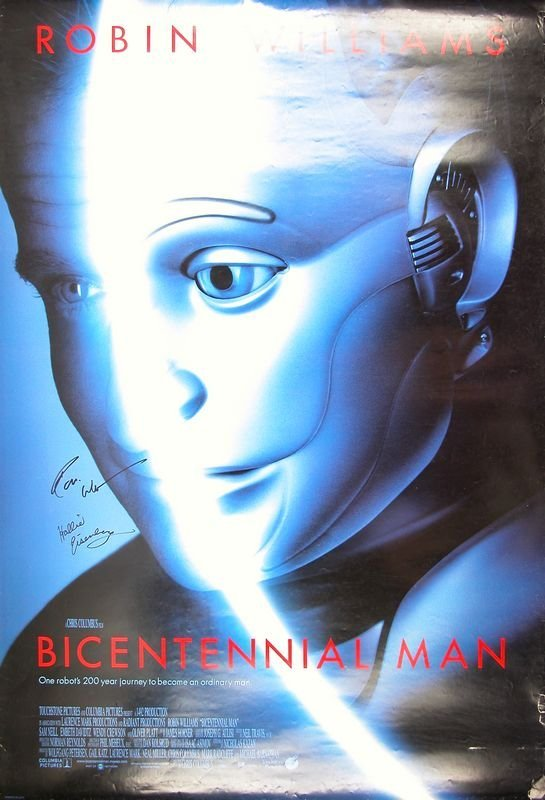 "934: ROBIN WILLIAMS SIGNED ""BICENTENNIAL MAN"" POSTER : Lot 934"