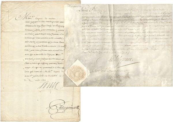 0341 louis xiv compte de pontchartrain signed document. Black Bedroom Furniture Sets. Home Design Ideas