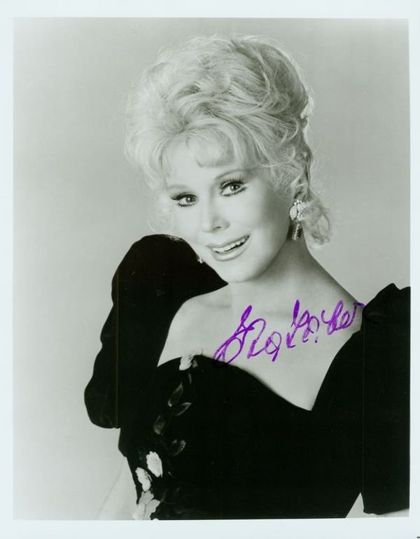 0900 Blond Actresses Signed Pics Gabor Turner Prowse