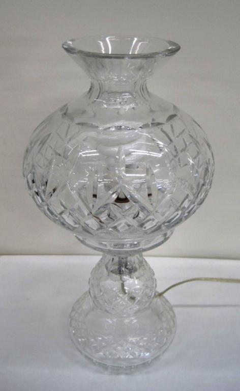 205 Waterford Crystal Hurricane Lamp Lot 205