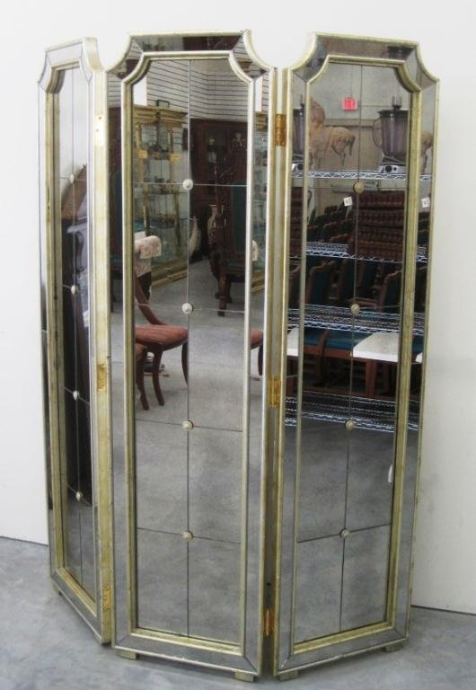 Mirror Room Divider 3 Panel Screen  Lot 74. Decorative Curbing Prices. Decorating Ideas For A Small Bathroom. White Laundry Room Cabinets. Landscape Decor. Premade Laundry Room Cabinets. Decoration For Graduation. Ceiling Lights For Dining Room. Train Decorations