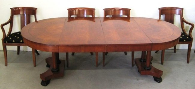 baker furniture dining room table chairs lot 73