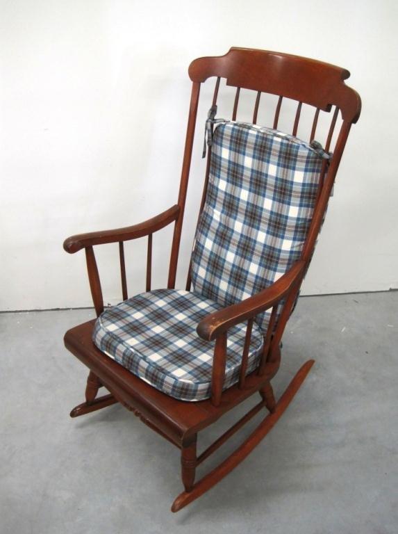 Nichols And Stone Cherry Wood Rocking Chair Lot 145