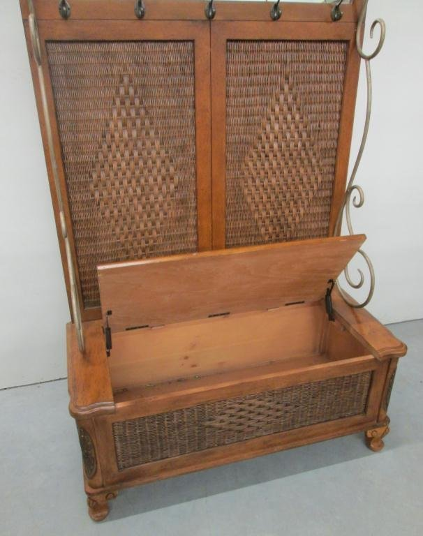 HALL COAT RACK WITH STORAGE BENCH Lot 64