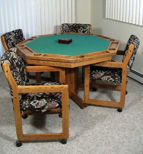 Poker table chairs casters