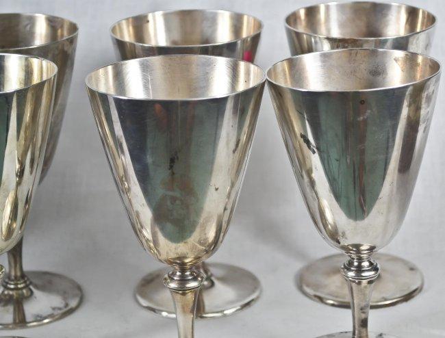 52 8 Vintage Tiffany Co Sterling Silver Wine Glasses Lot 52