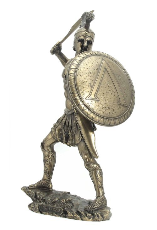 SPARTAN WARRIOR WITH SWORD AND HOPLITE SHIELD - BRONZESpartan Shield And Sword Tattoo