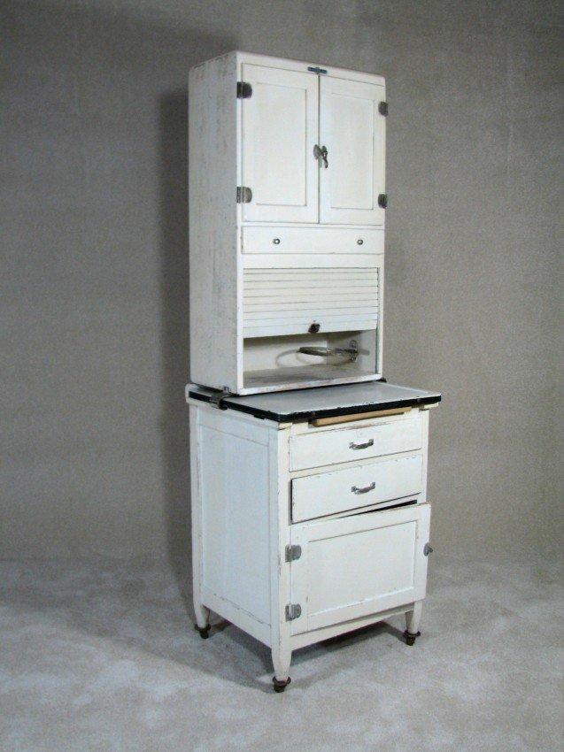 107 vintage kitchen hoosier cabinet lot 107