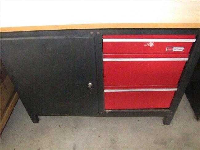 61 Sears Craftsman Workbench Lot 61