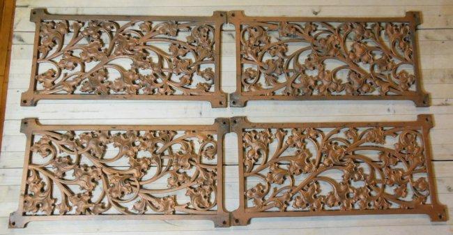 Lot of 4 decorative wrought iron wall panels lot 1508 - Wrought iron decorative wall panels ...