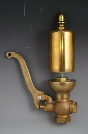"Brass Powell Steam Train Whistle, 2 1/2"" Base, 10 1/2 ..."