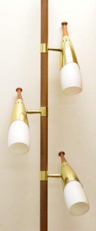 mid century modern floor pole lamp lot 303d. Black Bedroom Furniture Sets. Home Design Ideas