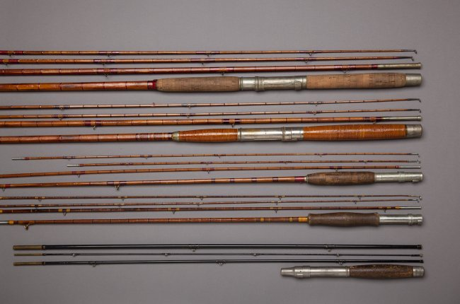 182 five bamboo fishing rods lot 182 for Bamboo fishing rods