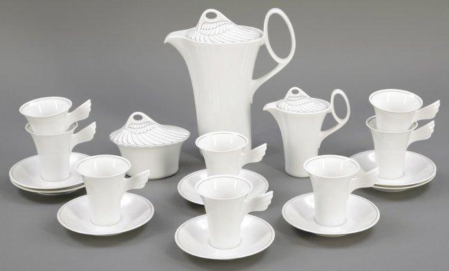 19tlg kaffeeservice 39 mythos 39 rosenthal ag selb nach 1 lot 1072. Black Bedroom Furniture Sets. Home Design Ideas