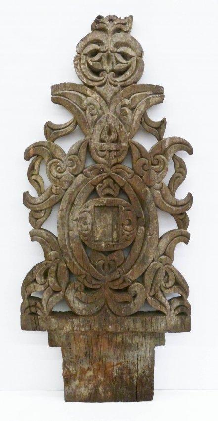 Old bajao or mindanao carved grave marker x lot