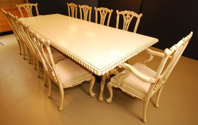 105 chippendale 10 seat dining room set lot 105 stately 10 foot formal dining table amp 8 chairs dining room