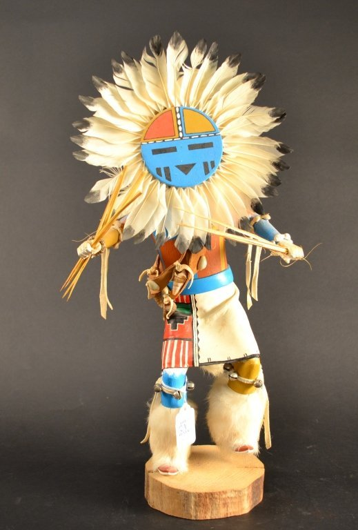 native american hopi kachina doll signed tawa sun r lot 121