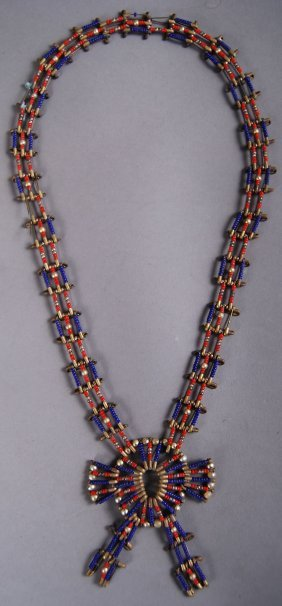 Antique Native American Indian Necklace Beads Amp Safety