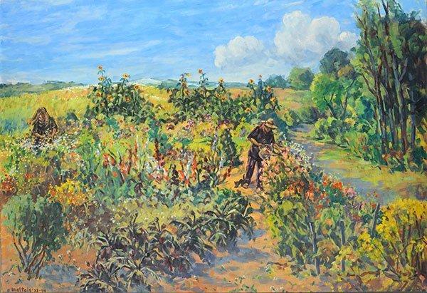 Maltais marcella 1933 un jardin extraordinaire oil for Un jardin extraordinaire