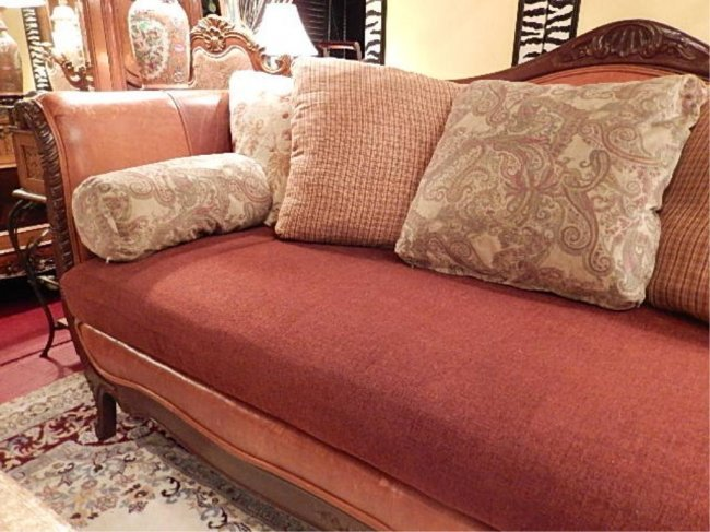 Leather Empire Style Sofa 1 Of Two Available Curved