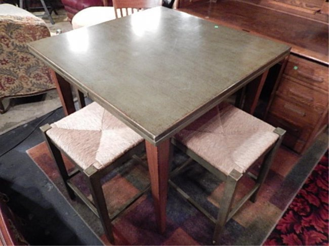 Made In Italy Dining Table With Built In Side Leaves Lot 13
