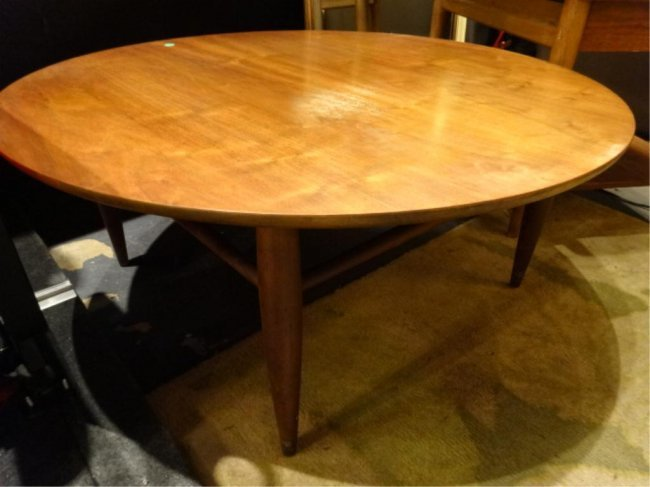 mid century modern mersman coffee table approx 32 lot 77