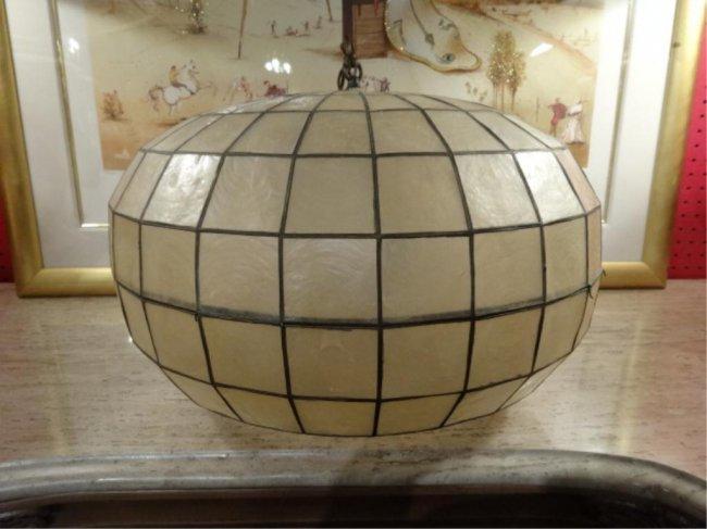 capiz shell hanging ceiling light globe form shade lot 5a. Black Bedroom Furniture Sets. Home Design Ideas
