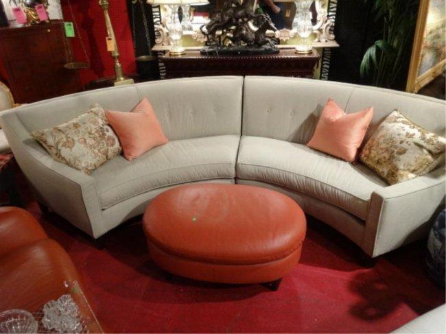 Modern Design Semi Circular Sofa 2 Pc Sectional Lot 92