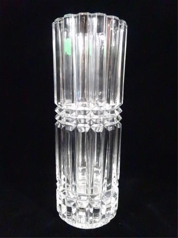 cristal d 39 arques 24 lead crystal cylinder vase made lot 79d. Black Bedroom Furniture Sets. Home Design Ideas