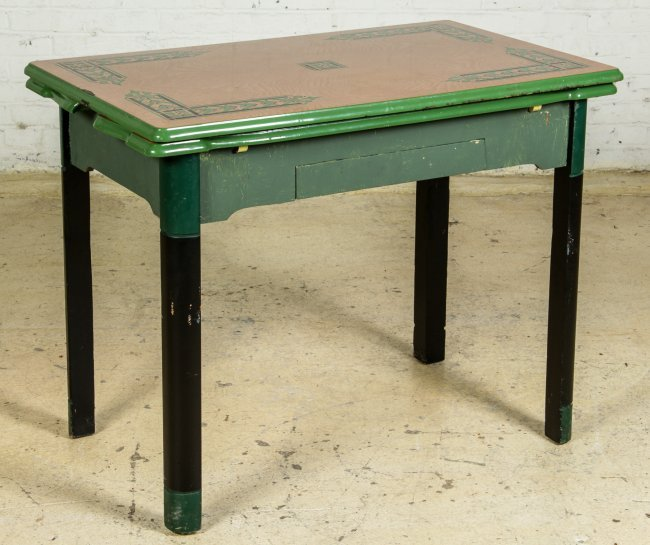 vintage 1940 s enamel top kitchen table lot 191